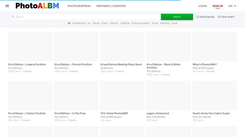 PhotoALBM Landing Page