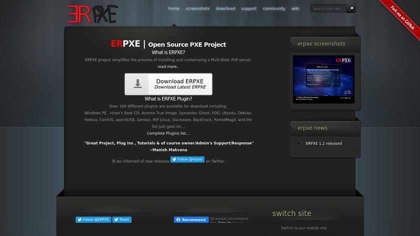 ERPXE Landing Page