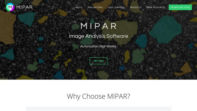 MIPAR Landing Page