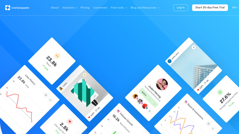 Instagram Automatic Posting by Iconosquare Landing Page