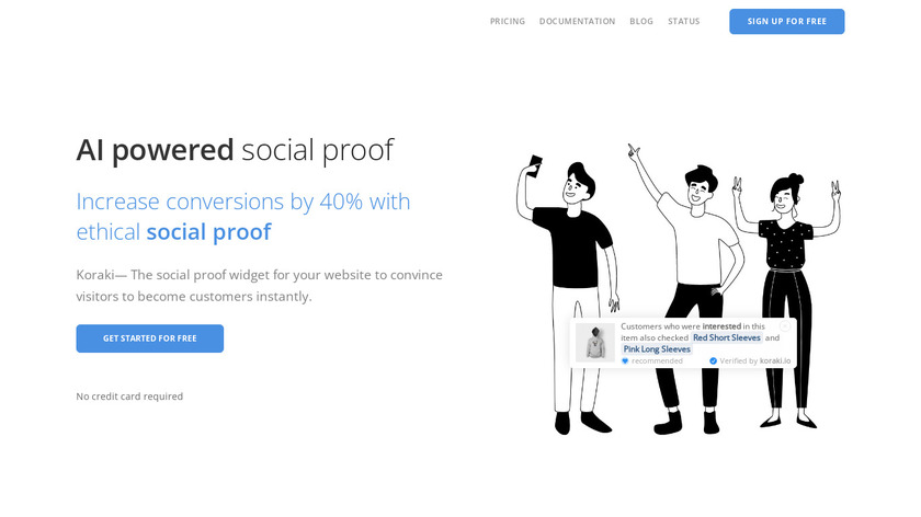 Koraki.io Landing Page