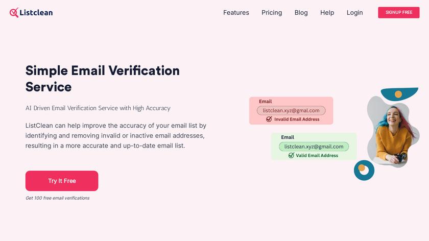 ListClean Landing Page