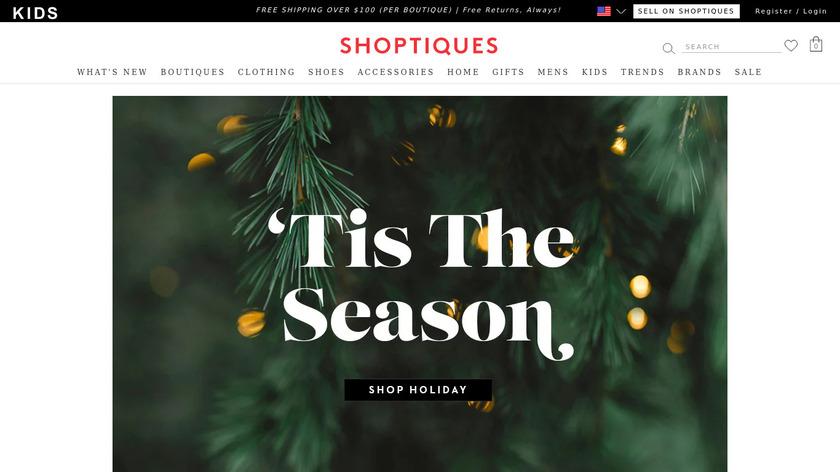 Shoptiques Landing Page