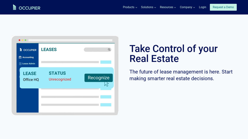 Occupier Landing Page