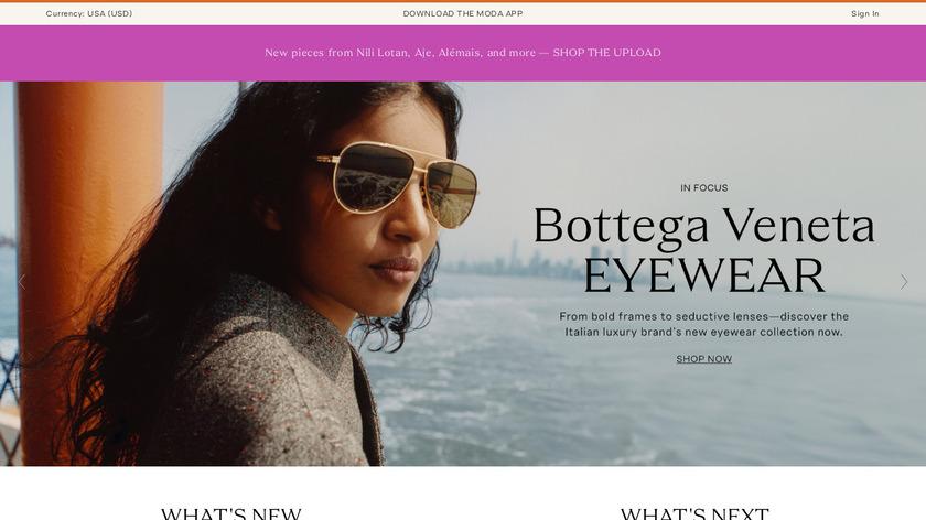 Moda Operandi Landing Page