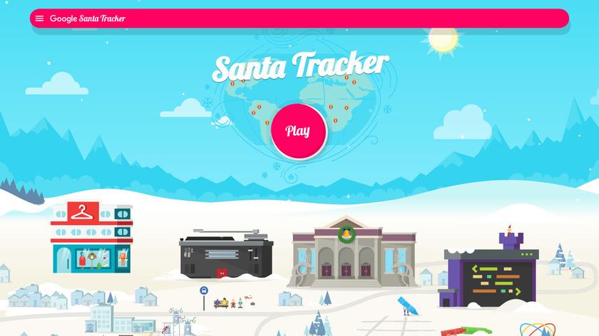 Google Santa Tracker Landing Page