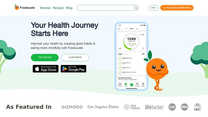 Fooducate Landing Page