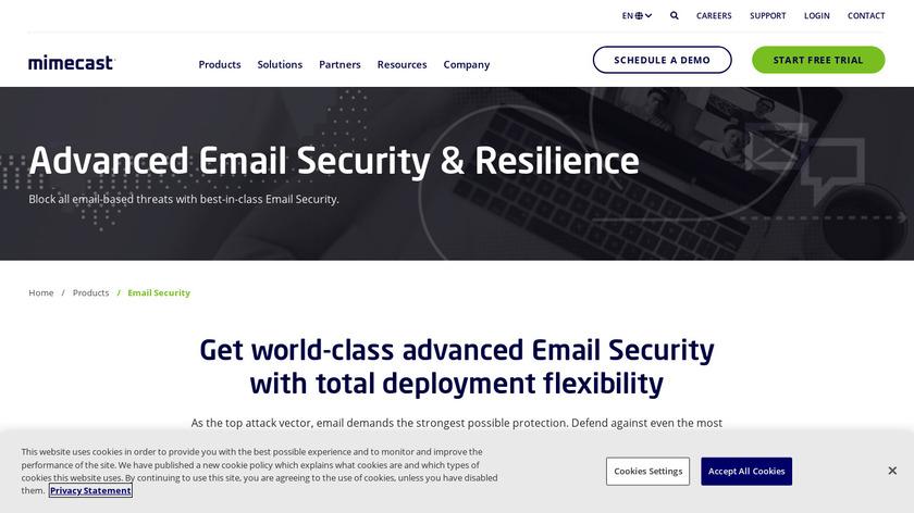 Mimecast Gateway Landing Page