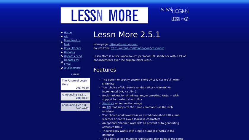 Lessn More Landing Page