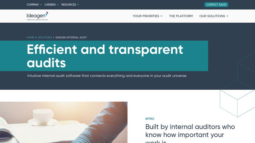 Ideagen Pentana Landing Page
