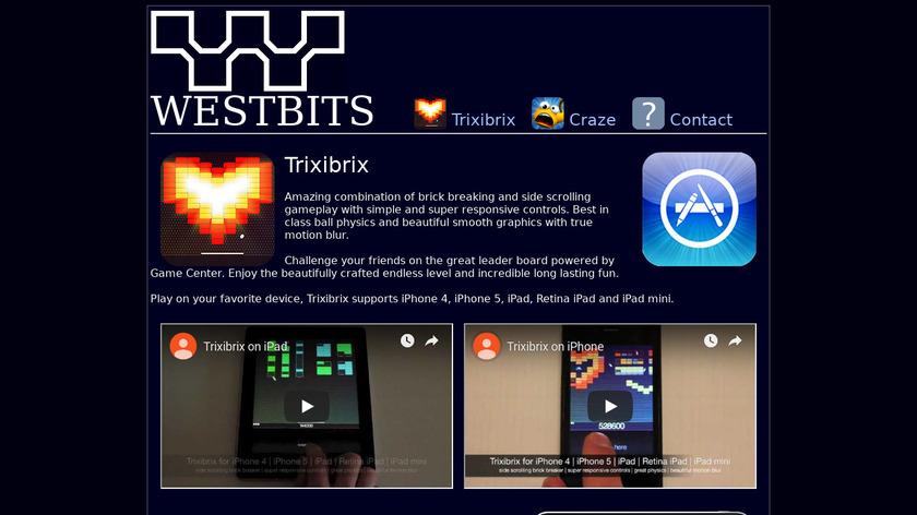 Trixibrix Landing Page