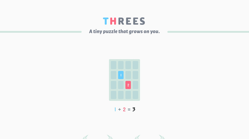Threes Landing Page
