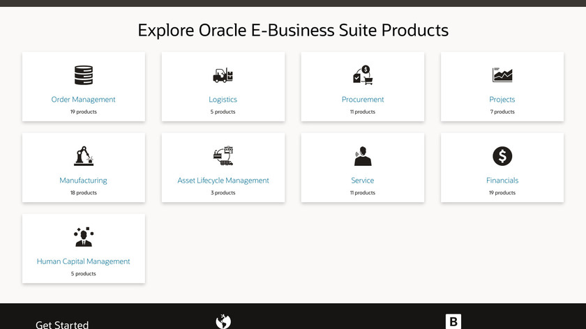 Oracle EBS Financials Landing Page