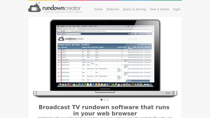 Rundown Creator Landing Page