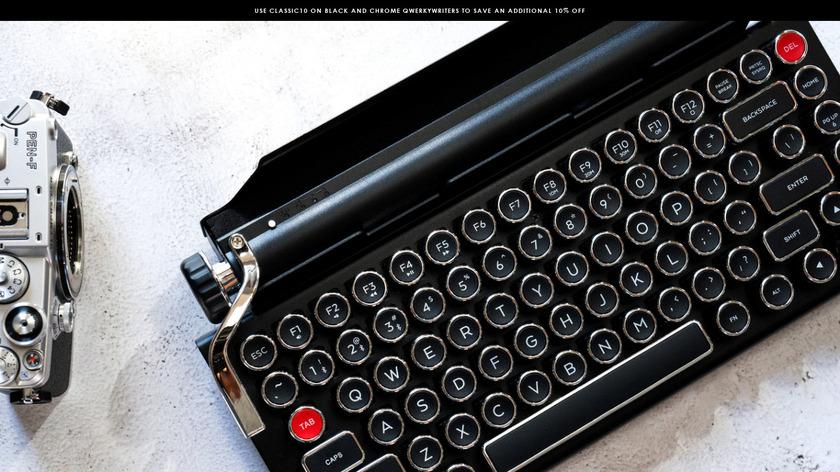 Qwerkywriter Landing Page
