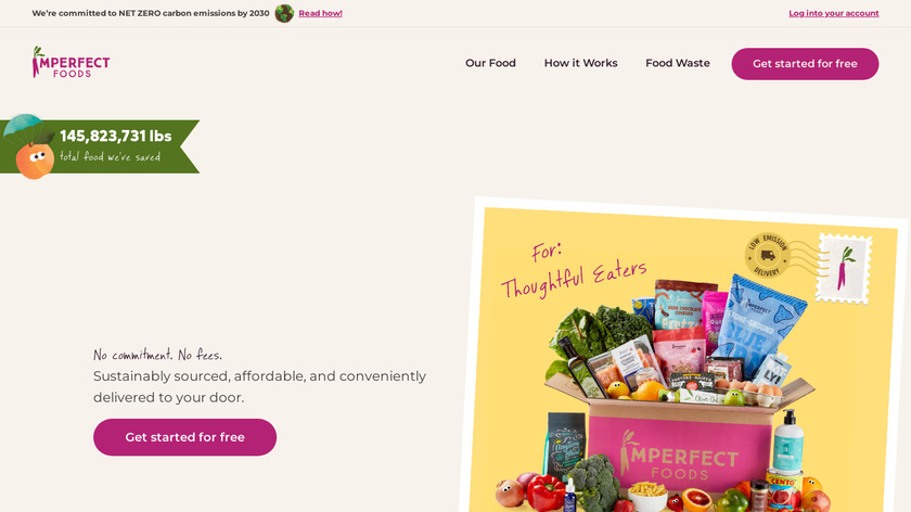 Imperfect Foods Landing Page