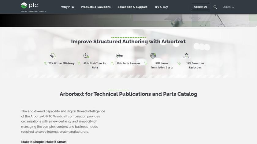 PTC Arbortext Landing Page