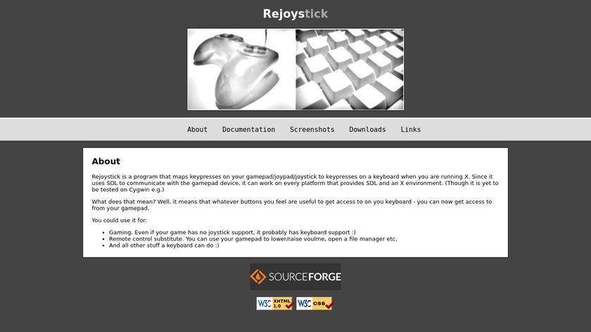 rejoystick Landing Page
