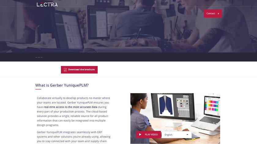 Yunique PLM Landing Page