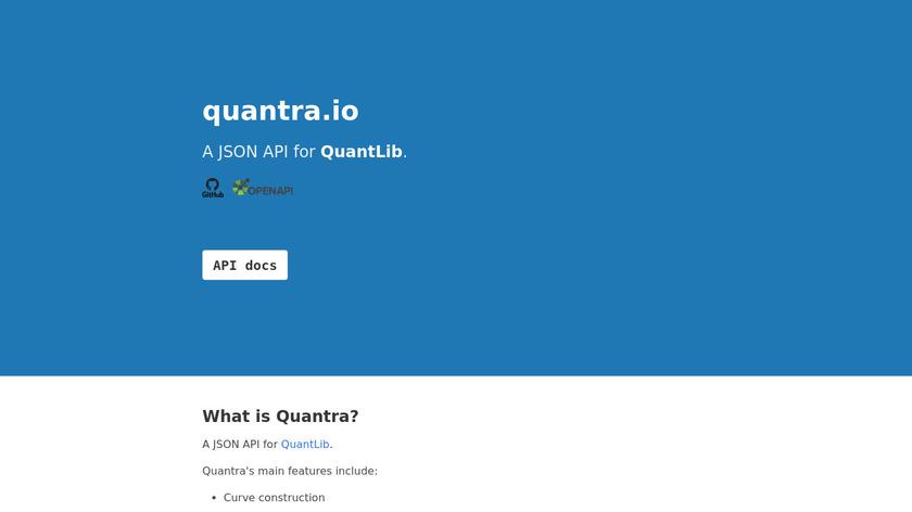 quantra Landing Page