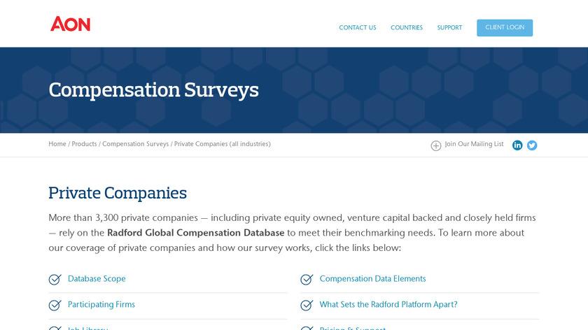 Radford Pre-IPO Landing Page