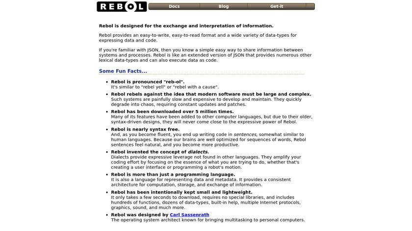 REBOL Landing Page