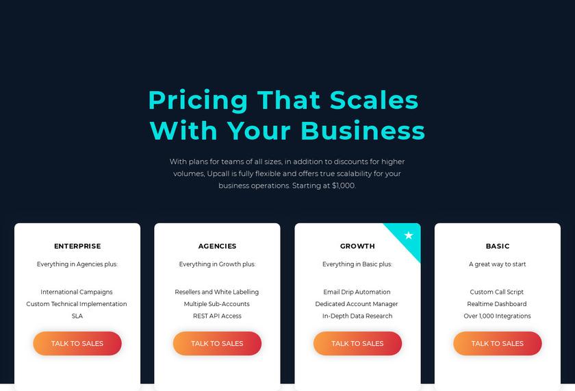 Upcall Pricing