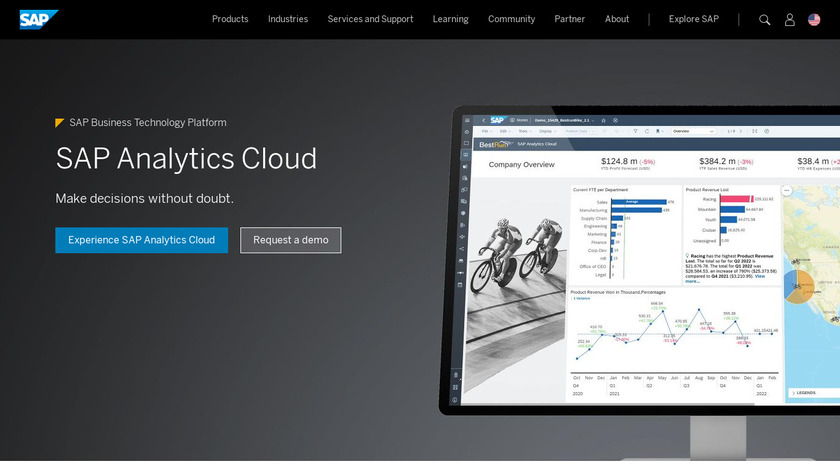 SAP BusinessObjects Predictive Analytics Landing Page