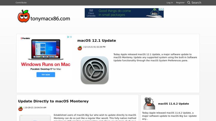 tonymacx86.com Landing Page