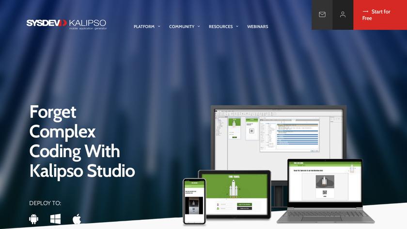 Kalipso Mobile Landing Page