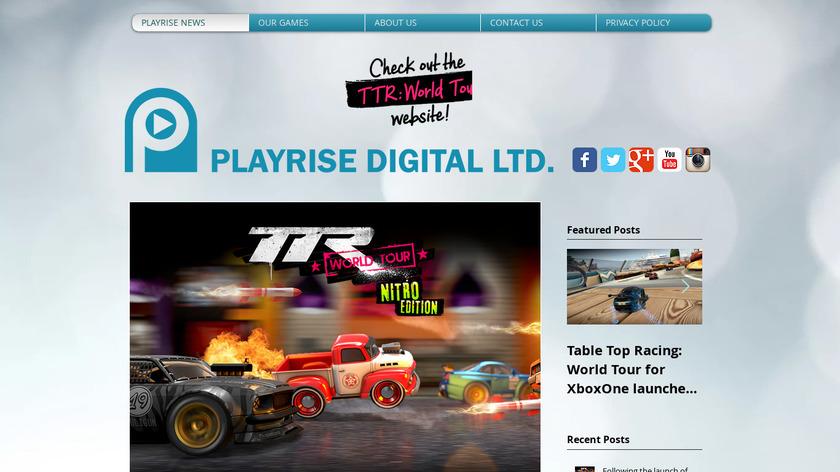 Table Top Racing Landing Page