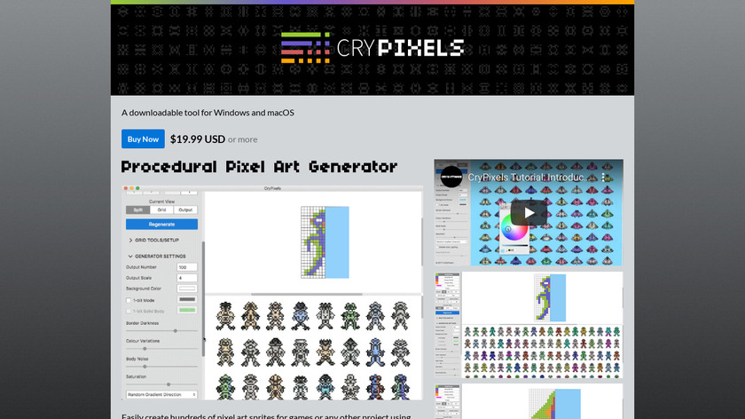 CryPixels Landing Page