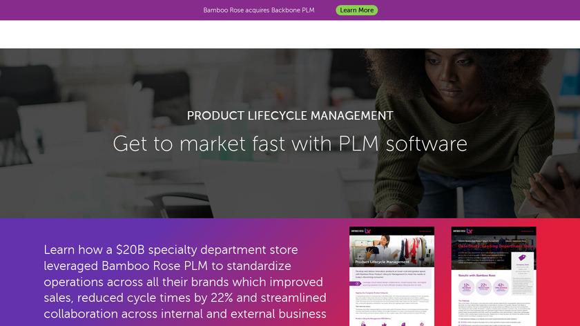 Bamboo Rose Retail PLM Landing Page
