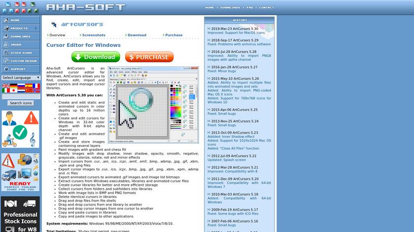 Art Cursors Landing Page