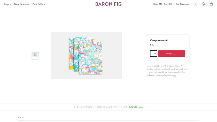 baronfig.com Computerworld Landing Page