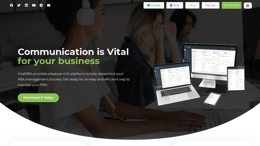 VitalPBX Landing Page