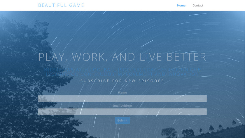 Beautiful Game Landing Page