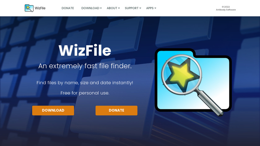 WizFile Landing Page