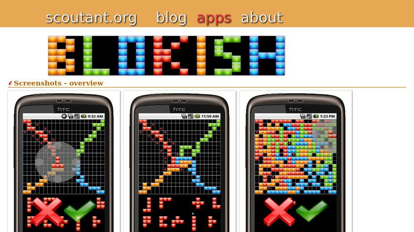 Blokish Landing Page