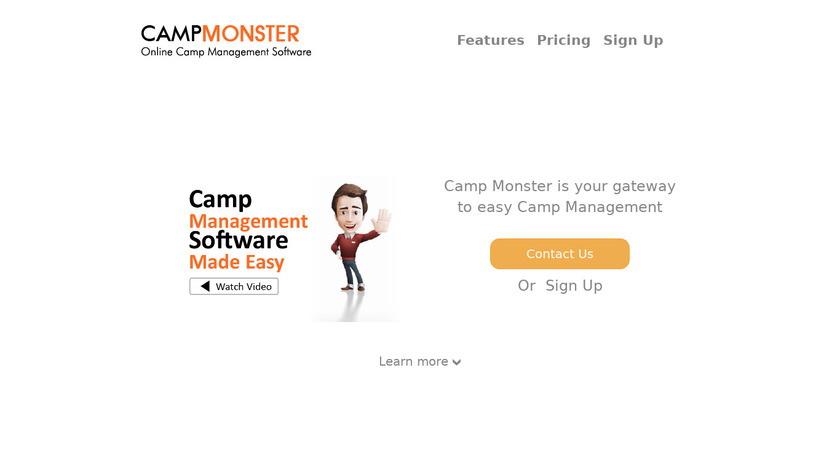 Camp Monster Landing Page