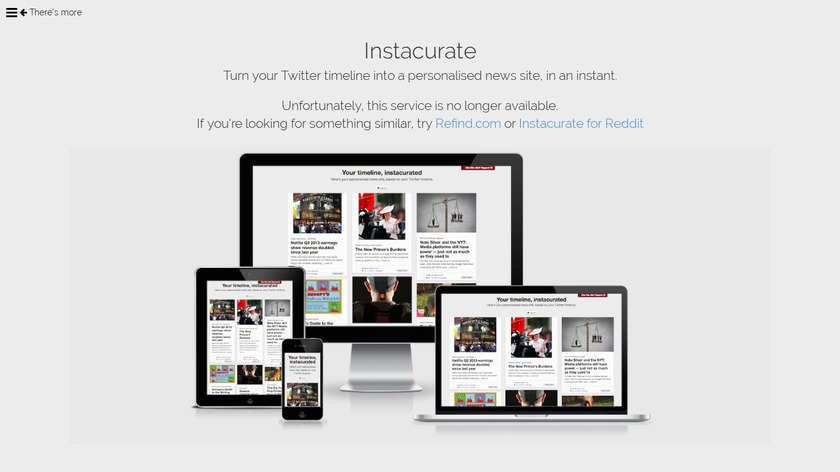 Instacurate Landing Page