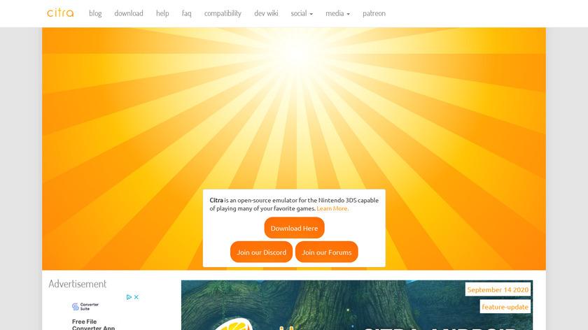 Citra Landing Page