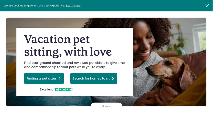 TrustedHousesitters Landing Page