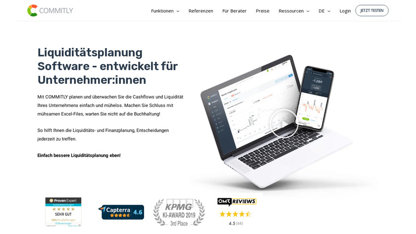 Commitly Landing Page