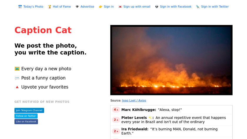Caption Cat Landing Page