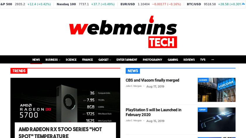 Webmains Tech Landing Page