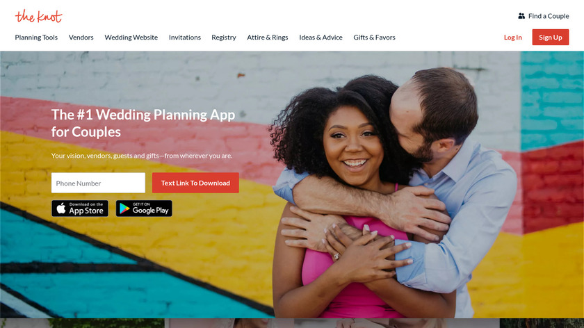 Wedding Planner by The Knot Landing Page