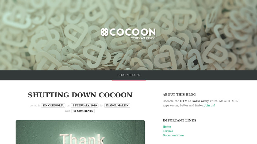 Cocoon.io Landing Page