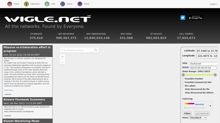 wigle.net Landing Page