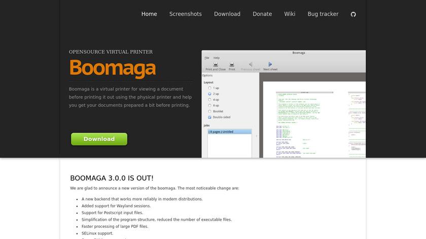 Boomaga Landing Page